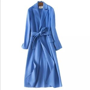 NEW!2018 Auth MAJE GEODE blue coat sz 36 US 4 Rare